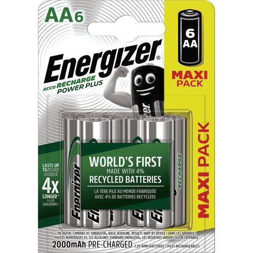 Batterij Power Plus AA voorgeladen - 2000 mAh - set van 6 - Energizer