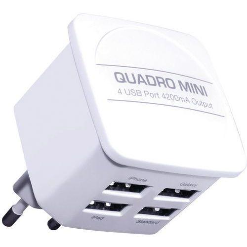 Netstroomlader met 4 USB-poorten - Wit - Moxie