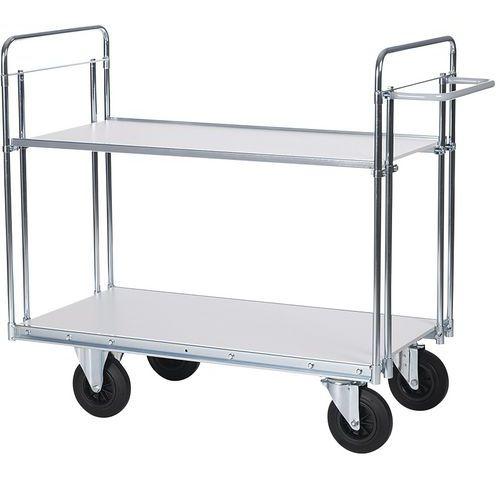 Wagen voor zware lasten - 2 plateaus - Draagvermogen 500 kg