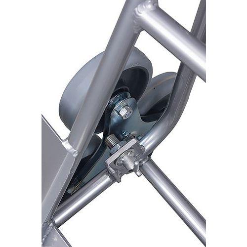 Trappensteekwagen aluminium met 2 driearmige wielset