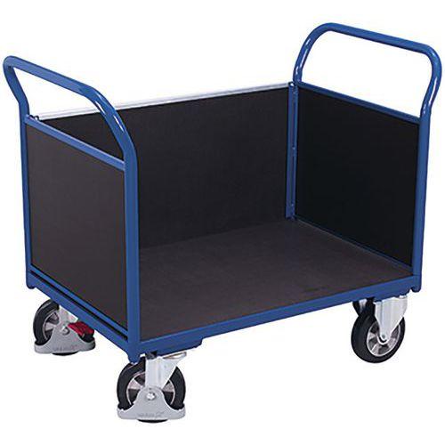Driewandige trolley met zeefdrukplaat