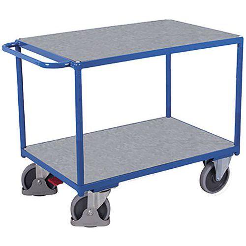 Tafelwagen zwaar met verzinkt 2 laadvlak