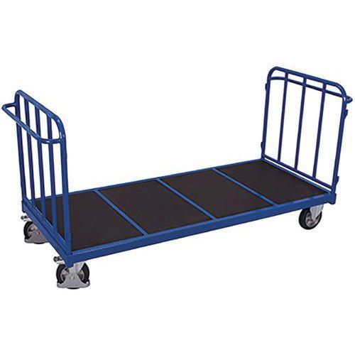 Kopwandwagen met 2 buisvormige rugleuningen