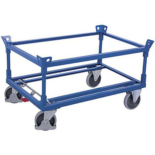 Palletonderwagen met 2 hoekframes