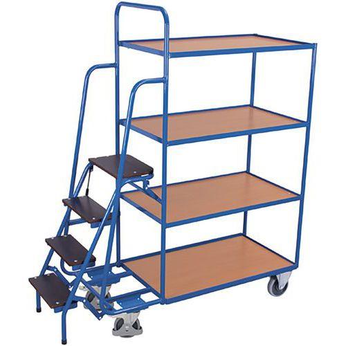 Orderverzamelwagen met 4 laadvlakken hoog