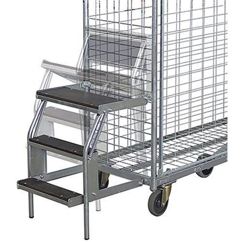 Stapladder met 3 treden voor orderverzamelwagen