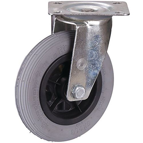 Zwenkwiel met luchtband 150 x 30 mm