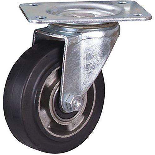 Zwenkwiel elastisch rubber 125 x 40 mm zwart