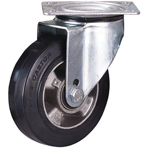 Zwenkwiel elastisch rubber 160 x 50 mm zwart