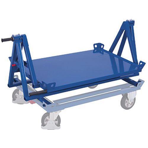 Kiepconstructie voor palletonderwagen