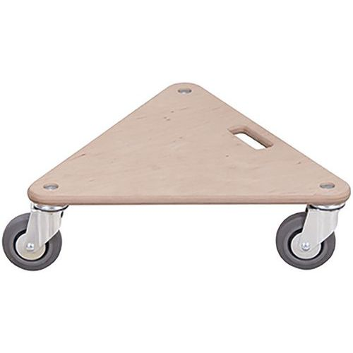Meubelroller driehoekig met thermoplastische zwenkwiel