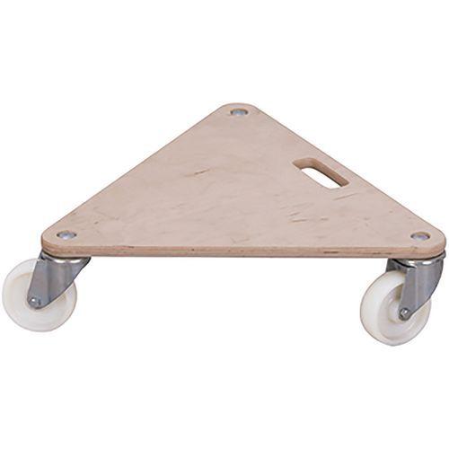 Meubelroller driehoekig met kunststof zwenkwiel
