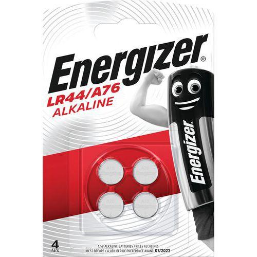 Alkalineknoopbatterij LR44 - A76 - set van 4 - Energizer