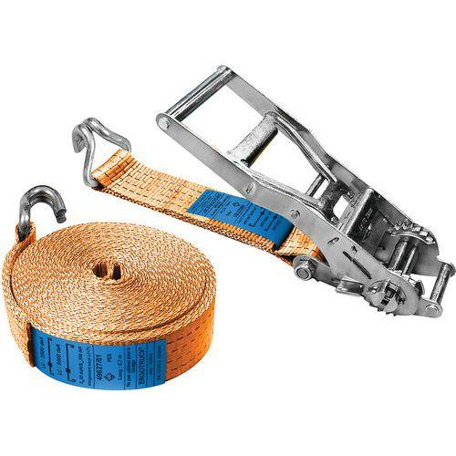 Sjorband met haken en spanratel - maximale werkspanning 2500 kg