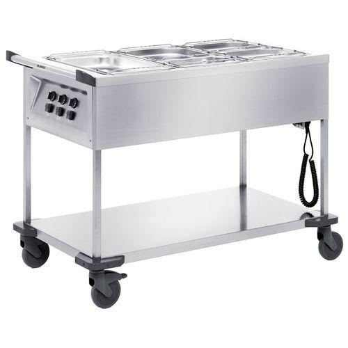 Voedselverdeelwagens verwarmd open 3 individuele bak met thermostaat