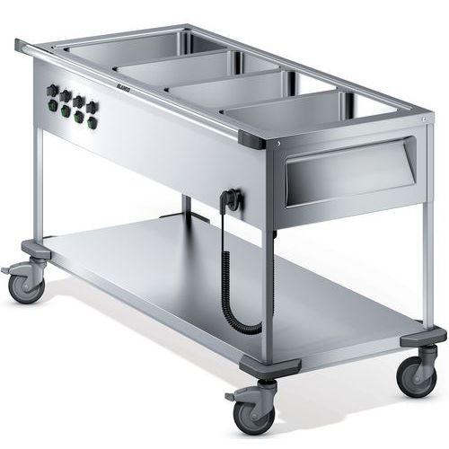 Voedselverdeelwagen verwarmd open 4 individuele bak met thermostaat L4