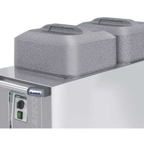 Stolpdeksel vierkant zilvergrijs voor bordenstapelaar TS