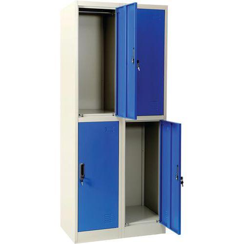 Meervaks garderobekast blauw - Manutan