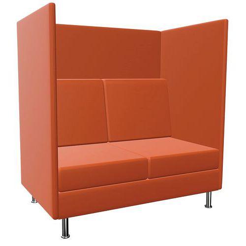 Stoel Coworking 2 zitplaats - H136 cm - Atelier