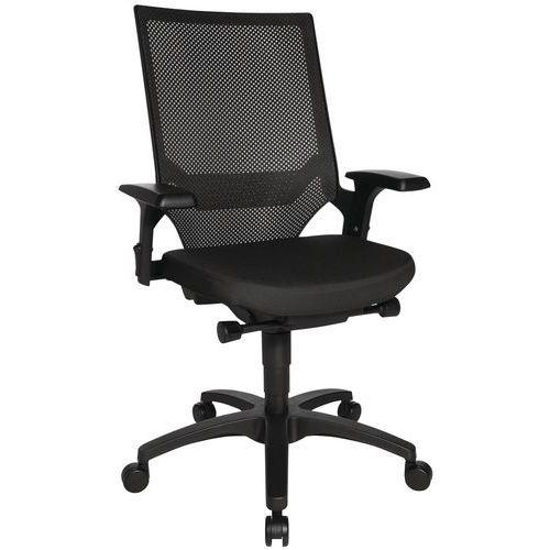 Bureaustoel Autosyncron- Zwarte structuur - Zwart onderstel