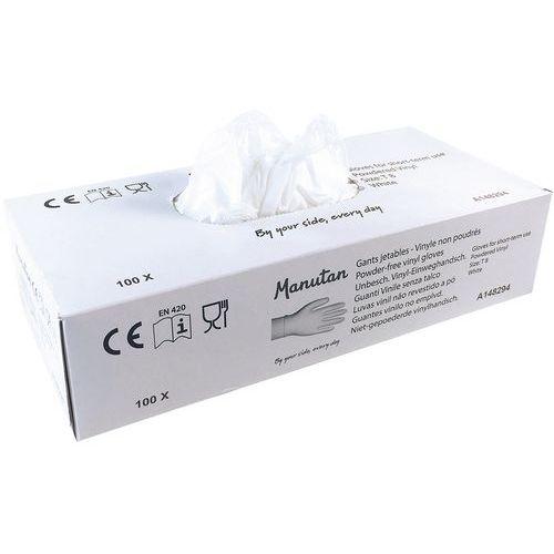 Wegwerp handschoen vinyl, gepoederd - Manutan