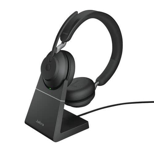 Headset met snoer Evolve2 65 UC Duo USB-C Link 380c +basis - Jabra