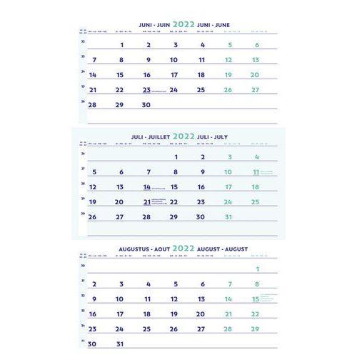 3 maands kalender 2021